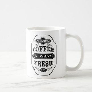 タイポグラフィのコーヒーラベルの発言 コーヒーマグカップ