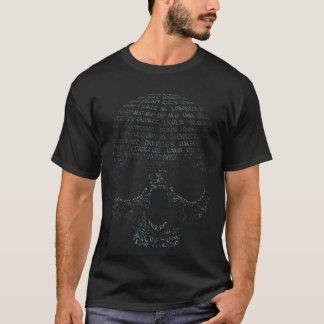 タイポグラフィのスカル Tシャツ