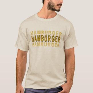 タイポグラフィのハンバーガー Tシャツ