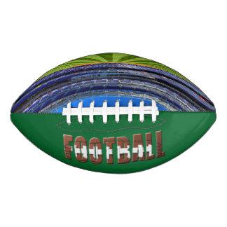 タイポグラフィのフットボールスタジアム アメリカンフットボール
