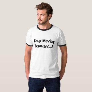 タイポグラフィのワイシャツは進を保ちます Tシャツ