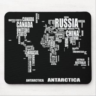 タイポグラフィの世界地図 マウスパッド