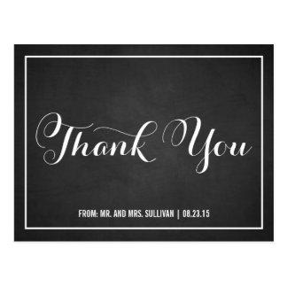 タイポグラフィの原稿は黒板の郵便はがき感謝していしています ポストカード