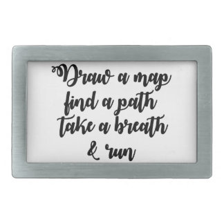 タイポグラフィの引用文の生命旅行感動的なギフト 長方形ベルトバックル