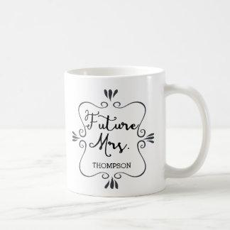 タイポグラフィの未来の夫人 コーヒーマグカップ