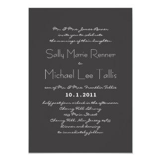 タイポグラフィの結婚式招待状 カード