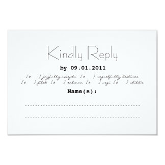 タイポグラフィの結婚式招待状RSVP カード