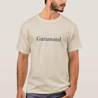 タイポグラフィ: Garamond Tシャツ