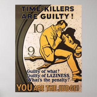 タイムキラーは罪があります ポスター