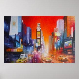 タイムズ・スクエアのニューヨークのプリント ポスター