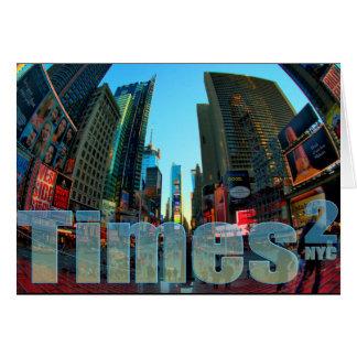 タイムズ・スクエアのブロードウェイニューヨークシティ、ニューヨーク カード