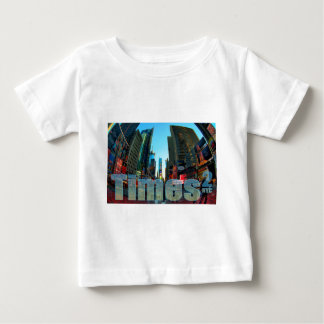 タイムズ・スクエアのブロードウェイニューヨークシティ、ニューヨーク ベビーTシャツ