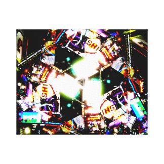 タイムズ・スクエアの万華鏡のように千変万化するパターン キャンバスプリント