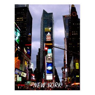 タイムズ・スクエアの郵便はがきのニューヨークの記念品カード ポストカード