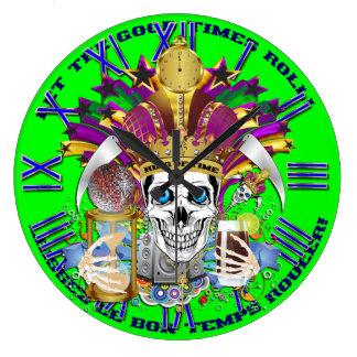 タイムレコーダーの眺めの謝肉祭王は暗示します ラージ壁時計