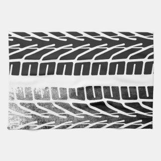 タイヤの印のデザイン キッチンタオル