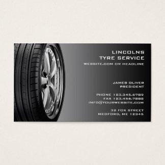 タイヤの自動車修理の名刺 名刺