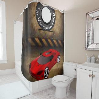 タイヤ赤い車の男の子のshowercurtain シャワーカーテン
