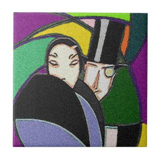 タイルのカラフルなアールデコの高い流行のカップル タイル