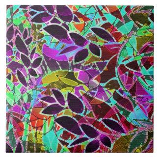 タイルの花柄の抽象芸術のアートワーク タイル