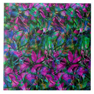 タイルの花柄の抽象芸術のステンドグラス タイル