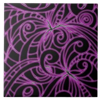 タイルの花柄の抽象芸術の背景 タイル