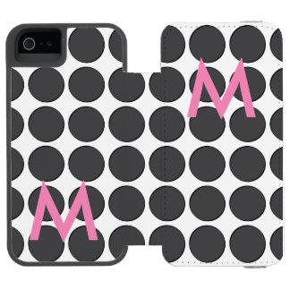 タイルを張られたダークグレーの点 iPhone SE/5/5sウォレットケース