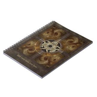 タイルを張られたフラクタルの星形五角形 ノートブック