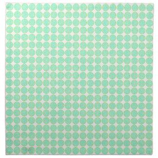 タイルを張られた同心円の布のナプキン ナプキンクロス