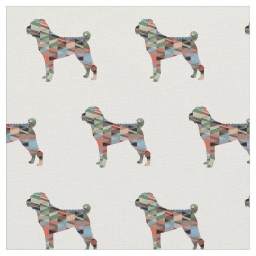 タイルを張られる中国人のShar-Peiのシルエット-格子縞 ファブリック