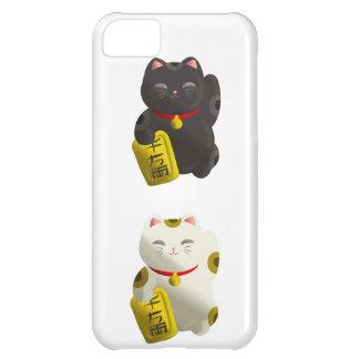 タイルを張られる幸運な猫 iPhone5Cケース