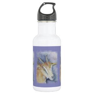 タイルを張られる水彩画のヤギか子供 ウォーターボトル