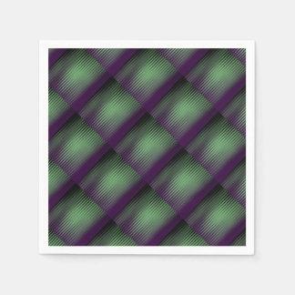 タイルを張られる緑の紫色 スタンダードカクテルナプキン