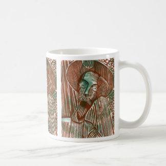 タイルを張られる錆のドン・キホーテおよび緑 コーヒーマグカップ