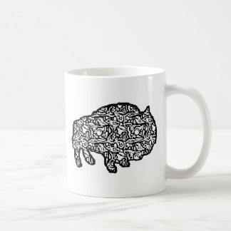 タイルを張落書きブルース コーヒーマグカップ