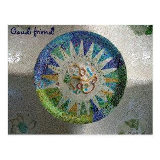 タイル- Gaudiの友人! -カスタマイズ ポストカード