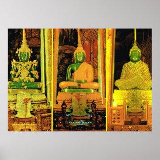 タイ、バンコク、エメラルドの仏 ポスター