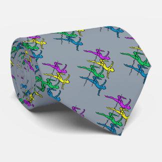 タイ#1ファン-青い明るい色 ネクタイ