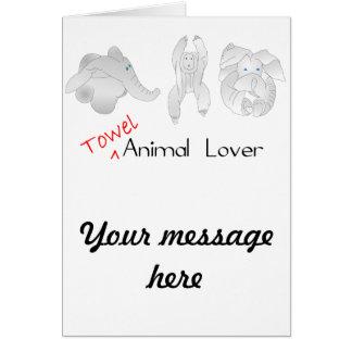 タオルの動物愛好家 カード