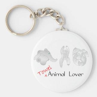 タオルの動物愛好家 キーホルダー