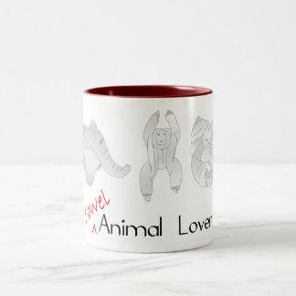 タオルの動物愛好家 ツートーンマグカップ