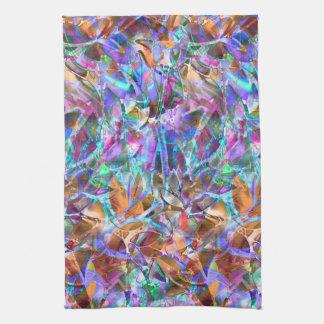 タオルの花柄の抽象芸術のステンドグラス キッチンタオル