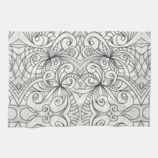 タオルの花柄の抽象芸術の背景 キッチンタオル