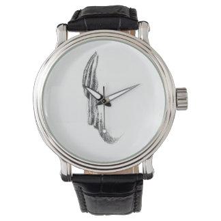 タオルの顔のヴィンテージ革バンドの腕時計 腕時計