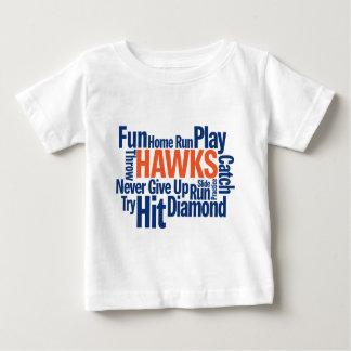 タカの野球 ベビーTシャツ