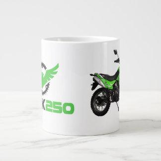 タカ250の緑のバイクのジャンボマグ ジャンボコーヒーマグカップ