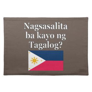 タガログ語を話しますか。 タガログ語。 旗 ランチョンマット