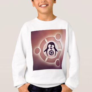 タキシードとの友人のロゴのUbuntuのLinuxの円 スウェットシャツ