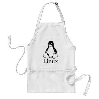 タキシードとのLinuxのロゴLinuxのペンギン スタンダードエプロン