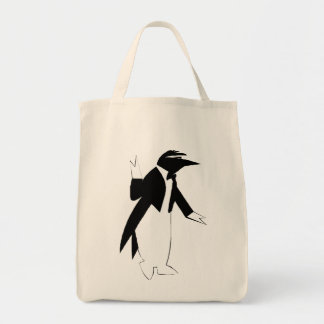 タキシードのペンギン-氷のヒップスターとしてカッコいい トートバッグ